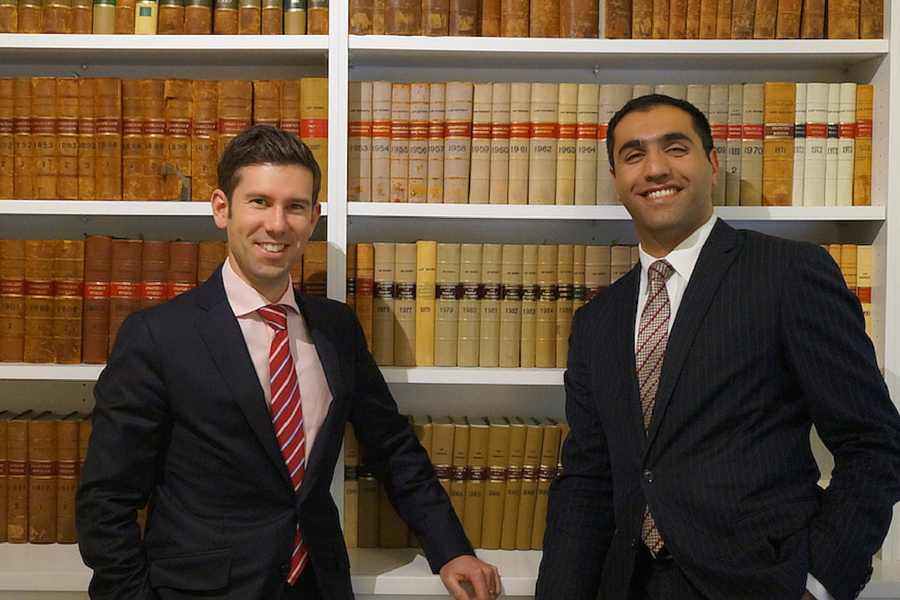 BarBooks founders Joshua Knackstredt and Pouyan Afshar